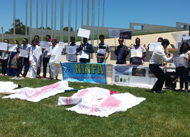 Protest in support of Madesh movement at Canberra parliament